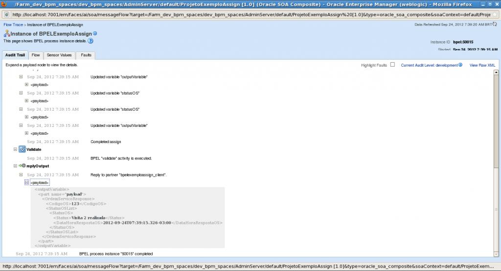 copyList response